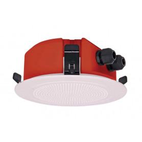 100mm 5W Flush Mount Low Profile Speaker - White Plastic Grill
