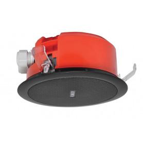 100mm 5W Flush Mount Low Profile Speaker - Black Metal Grill