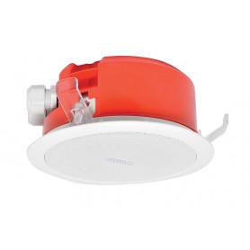 100mm 5W Flush Mount Low Profile Speaker - White Metal Grill