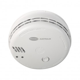 BROOKS 140 SERIES Mains Powered PHOTOELECTRIC Smoke Alarm with 9V Alkaline Battery