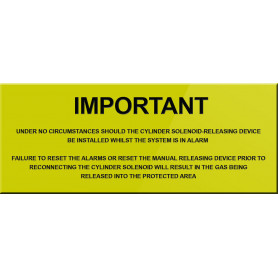 Important Notice Sign to go Near Gas Cylinder – Yellow Background