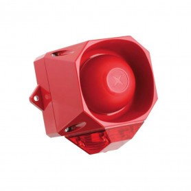 External Red Sounder and Strobe Combo Unit - IP66 Rating
