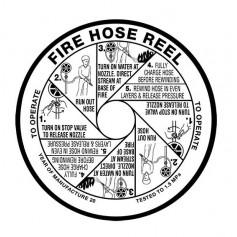 Hose Reel Replacement Label - Vinyl