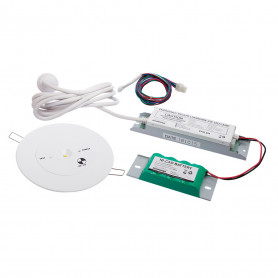 LED Emergency Light 85mm Head Unit with 140mm Adapter Plate