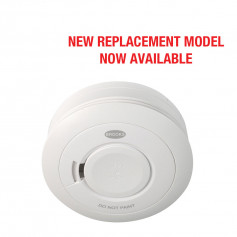 10 Year Lithium Cell Battery Powered Photoelectric Smoke Alarm with Hardwire Interconnect