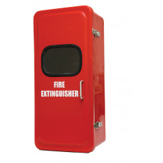 Fibreglass Weather Sealed Extinguisher Cabinet with Viewing Window