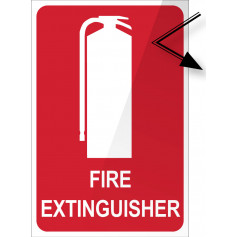 Fire Extinguisher Location Reflective Sign