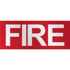 FIRE Sign with 52mm Lettering - Durable & Long-Lasting