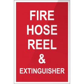 Fire Hose Reel & Extinguisher Plastic Sign