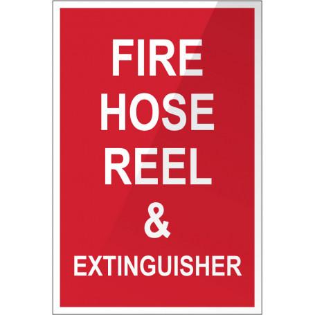 Fire Hose Reel & Extinguisher - Plastic Sign