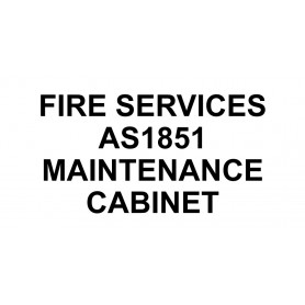 Vinyl Cut - Fire Services AS1851 Maintenance Cabinet