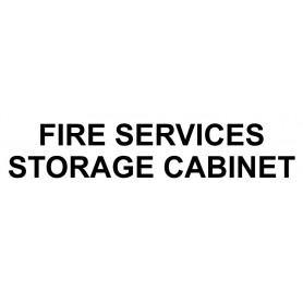 Vinyl Cut - Fire Services Storage Cabinet