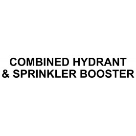 Vinyl Cut - Combined Hydrant & Sprinkler Booster