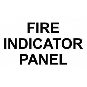 Vinyl Cut - Fire Indicator Panel