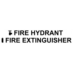 Vinyl Cut - Fire Hydrant Fire Extinguisher