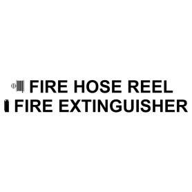 Vinyl Cut - Fire Hose Reel Fire Extinguisher