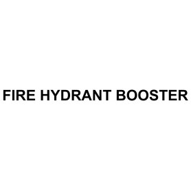 Vinyl Cut - Fire Hydrant Booster