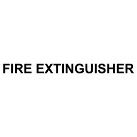Vinyl Cut - Fire Extinguisher