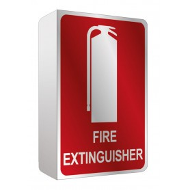 Fire Extinguisher Location Angle Sign