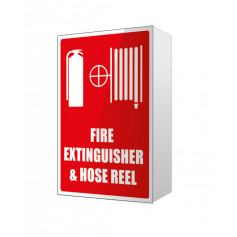 Fire Extinguisher & Hose Reel - Large Plastic Angle Sign
