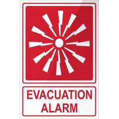Evacuation Alarm - Red Sign