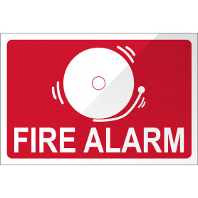 Fire Alarm with Bell - Red Sign