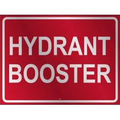 Hydrant Booster (Words) - Metal