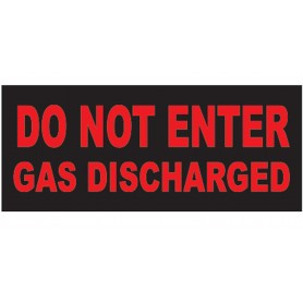 "Weatherproof Face Plate ""DO NOT ENTER, GAS DISCHARGED"""