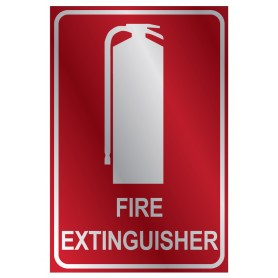 Fire Extinguisher Location Metal Medium Sign