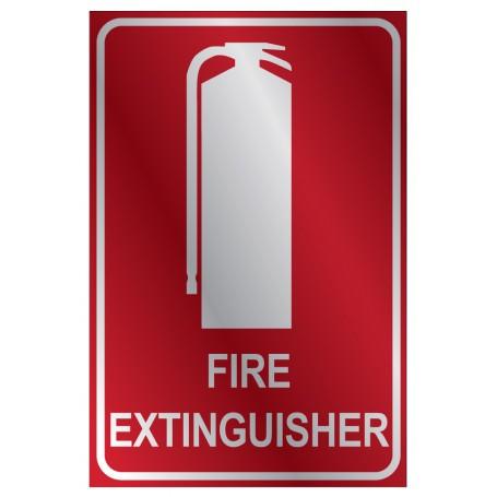Fire Extinguisher Location Metal Medium Sign