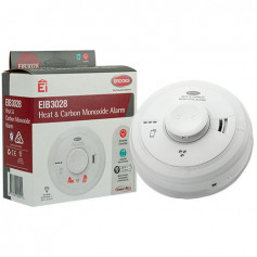 Heat & Carbon Monoxide 230-volt Alarm with 10-year lithium battery back-up