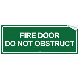 Fire Door Do Not Obstruct - Vinyl Sticker
