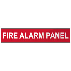 Fire Alarm Panel - Red Strip Sign
