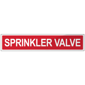 Sprinkler Valve (Words) Strip Sign