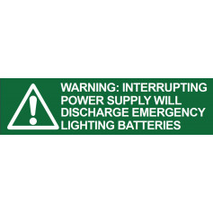 Warning - Interrupting Power Supply