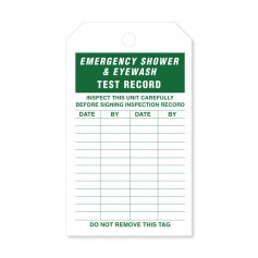 Maintenance Tag for AS4775 Eyewash and Emergency Shower Test Record