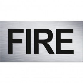 100 x 50 Fire Signs - White with Black Text
