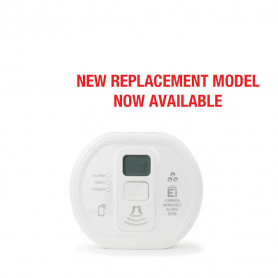 Carbon Monoxide Alarm with LCD display and replaceable AAA batteries