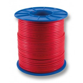 Flat Red Sheath Twin Cable - 1.0mm - 200m Roll