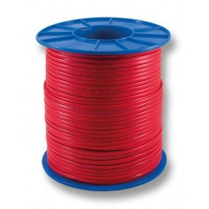 FLAT Red Twin Fire Cable - 1.0mm - 200m Roll