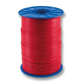 FLAT Red Twin Fire Cable - 1.0mm - 500m Roll