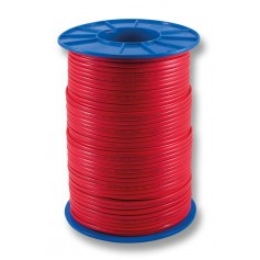 Flat Red Sheath Twin Cable - 1.0mm - 500m Roll