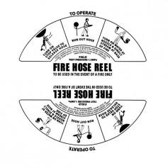 Hose Reel Replacement Label - PVC