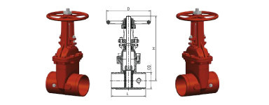 Outside Screw and Yoke Gate Valve Grooved