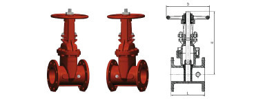 Outside Screw and Yoke Gate Valve Flanged
