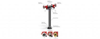 Dual Hydrant Risers