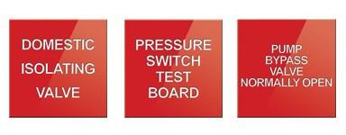 Hydrant Pump & Valve Signs