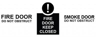 Vinyl Cut Fire Door