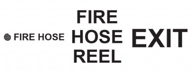 Vinyl Cut Fire Equipment