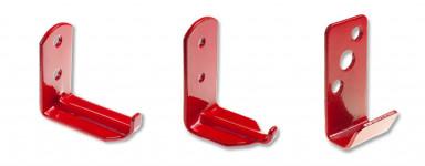 Wall Brackets Steel - Powder Coated Red